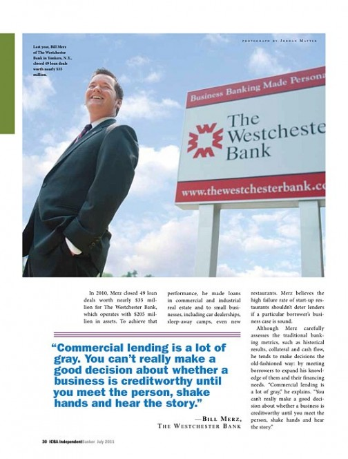 Bill, VP, Westchester Bank